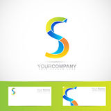 Colored letter S logo 3d Stock Photos