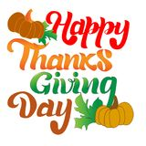 Colored Lettering thanksgiving day stock photos