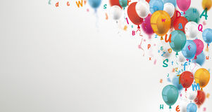 Colored Letters Balloons Header royalty free illustration