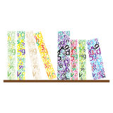 Colored letters Stock Image