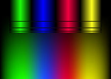 Colored Light beams Stock Images