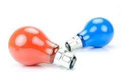 Colored Light Bulbs Stock Photos