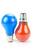 Colored Light Bulbs Stock Photography