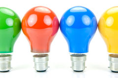 Colored Light Bulbs Stock Photography