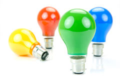 Colored Light Bulbs Royalty Free Stock Photo