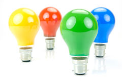 Colored Light Bulbs Stock Image