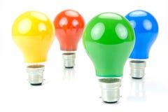 Colored Light Bulbs Stock Image