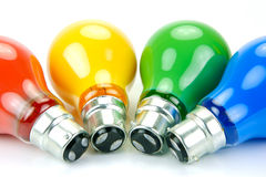 Colored Light Bulbs Royalty Free Stock Photos