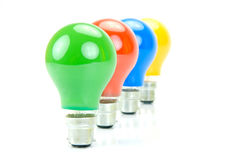 Colored Light Bulbs Royalty Free Stock Images