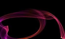 Colored Light Energy Streak on Black Background. Colored Light Energy Streak Design Element on Black Background Stock Image
