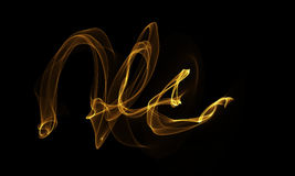 Colored Light Energy Streak on Black Background. Colored Light Energy Streak Design Element on Black Background Royalty Free Stock Photo