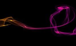 Colored Light Energy Streak on Black Background. Colored Light Energy Streak Design Element on Black Background Royalty Free Stock Photos