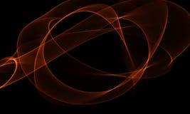 Colored Light Energy Streak on Black Background. Colored Light Energy Streak Design Element on Black Background Royalty Free Stock Image
