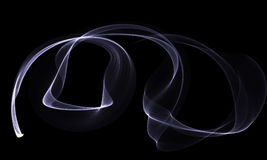 Colored Light Energy Streak on Black Background. Colored Light Energy Streak Design Element on Black Background Stock Images