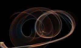 Colored Light Energy Streak on Black Background. Colored Light Energy Streak Design Element on Black Background Stock Photo