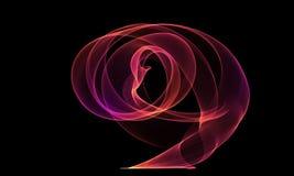 Colored Light Energy Streak on Black Background. Colored Light Energy Streak Design Element on Black Background Stock Photos