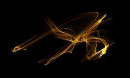 Colored Light Energy Streak on Black Background. Colored Light Energy Streak Design Element on Black Background Stock Photography