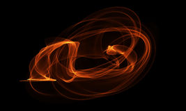 Colored Light Energy Streak on Black Background. Colored Light Energy Streak Design Element on Black Background Royalty Free Stock Images