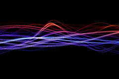 Colored light waves Royalty Free Stock Photos