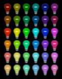Colored lightbulbs Royalty Free Stock Images