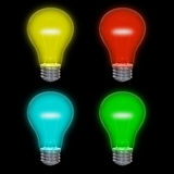 Colored lightbulbs Royalty Free Stock Photos