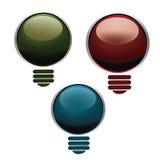 Colored lightbulbs Stock Image