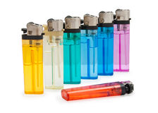 Colored lighters Royalty Free Stock Photos