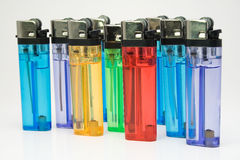 Colored lighters Royalty Free Stock Photography