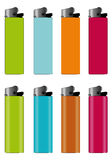 Colored Lighters. 4 x 4Colored Lighters Illustration Royalty Free Stock Photo
