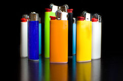 Colored lighters Stock Image