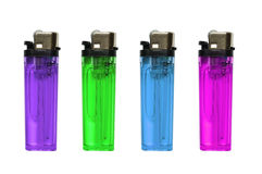 Colored lighters isolated Royalty Free Stock Photography