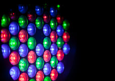 Colored lights. Close up image of colored lights vector illustration