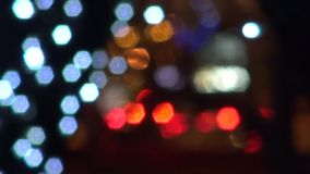 Colored lights abstract background city stock footage