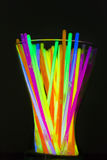 Colored lights fluorescent neon. Colorful fluorescent light neon on blanck background Royalty Free Stock Photography