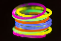 Colored lights fluorescent neon. Colorful fluorescent light neon on blanck background Stock Photography