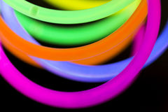 Colored lights fluorescent neon. Colorful fluorescent light neon on blanck background Royalty Free Stock Photo