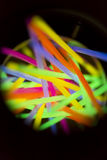 Colored lights fluorescent neon. Colorful fluorescent light neon on blanck background Stock Images