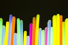 Colored lights fluorescent neon. Colorful fluorescent light neon on blanck background Stock Image