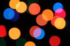 Colored lights. Multi-colored lights on a black background Stock Photo