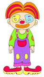 Colored line art drawing of circus theme - clown Stock Image