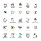 Colored line Icon of Business and Finance. This Colored line icon set consists of simply designed business and finance related icons that are best suited for Royalty Free Stock Images