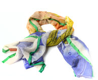 Colored linen scarf Stock Photo