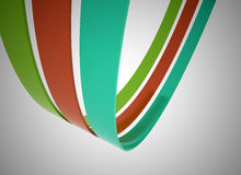 Colored lines 3d illustration Stock Image