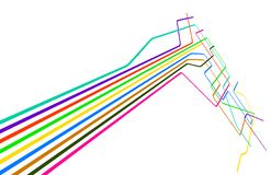 Colored lines Stock Images