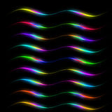 Colored lines on a black background Royalty Free Stock Photos