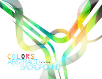 Colored Lines Curve Style Vector Royalty Free Stock Photos