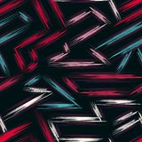 Colored lines geometric seamless color background Royalty Free Stock Photography
