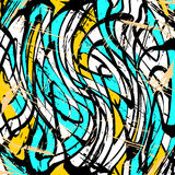 Colored lines Graffiti pattern on a black background vector illustration. (vector eps 10 royalty free illustration