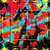 Colored lines Graffiti pattern on a black background vector illustration. (vector eps 10 stock illustration