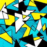 Colored lines Graffiti pattern on a colored background Stock Images